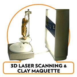 3D Laser Scans & Maquette Clay Models