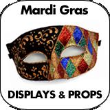 Mardi Gras Cardboard Cutouts