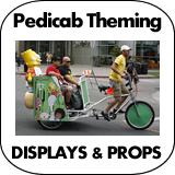 Pedicab Theming - Decorating - Advertising - Marketing Props