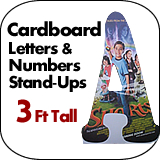 3 Foot Tall Cardboard Letters-Numbers Standup