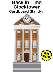 Back In Time Clocktower Cardboard Cutout Standup Prop (8 FT)