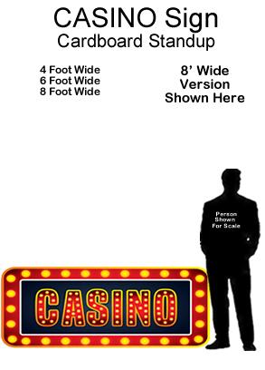 Casino Sign Cardboard Cutout Standup Prop