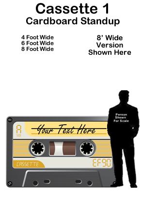 80s Cassette Tape Cardboard Cutout Standup Prop