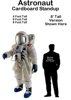 Astronaut Cardboard Cutout Standup Prop