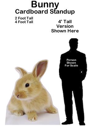 Bunny Cardboard Cutout Standup Prop