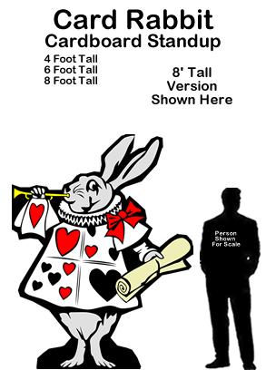 Card Rabbit Cardboard Cutout Standup Prop - Alice In Wonderland