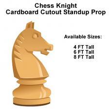 Chess Knight Wood Cardboard Cutout Standup Prop