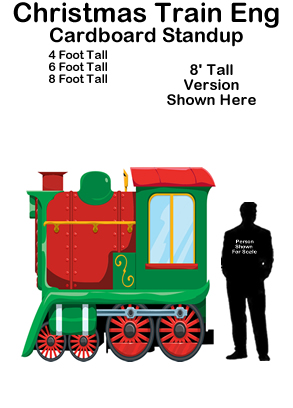 Christmas Train Engine Cardboard Cutout Standup Prop
