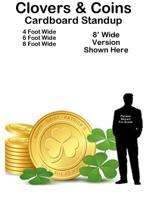 Lucky Coins and Clovers Cardboard Cutout Standup Prop