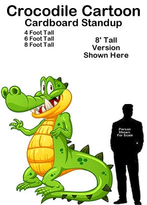 Crocodile Cartoon Cardboard Cutout Standup Prop