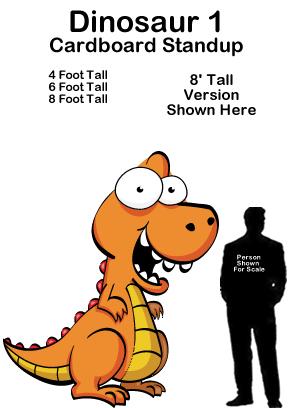 Dinosaur 1 Cartoon Cardboard Cutout Standup Prop