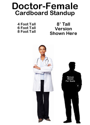 Dr Female Cardboard Cutout Standup Prop
