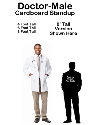 Dr Male Cardboard Cutout Standup Prop