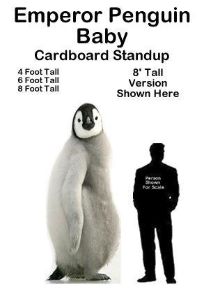 Emperor Penguin Baby Cardboard Cutout Standup Prop