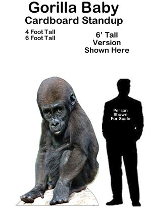 Gorilla Baby Cardboard Cutout Standup Prop