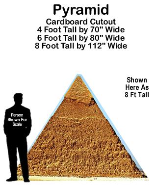 Pyramid Cardboard Cutout Standup Prop