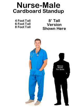 Nurse Male Cardboard Cutout Standup Prop