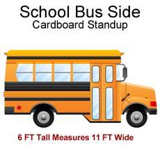 School Bus Side Cardboard Cutout Standup Prop