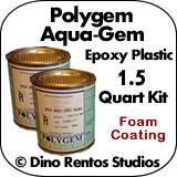 Polygem Aquagem Epoxy Plastic Foam Coating - 1.5 Quart Kit