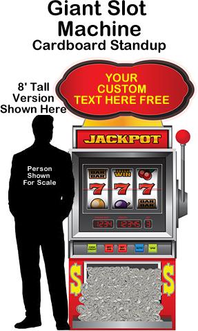 Casino/Vegas Slot Machine Cardboard Cutout Standup Prop