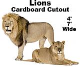 Lions Cardboard Cutout Standup Prop