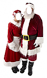 Mr. and Mrs. Claus Cardboard Photo Face Stand-In