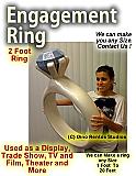Giant/Big Engagement Ring Foam Prop