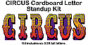 Circus Letters Cardboard Cutout Standup Kit