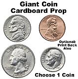 Giant Coin Cardboard Cutout Prop