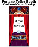 Fortune Teller Booth Cardboard Cutout Standup Prop