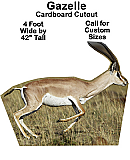 Gazelle Cardboard Cutout Standup Prop