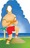 Hawaiian Guy Cardboard Stand-in