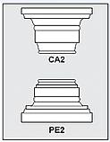 CA2-PE2 - Architectural Foam Shape - Capital & Pedestal