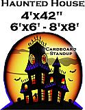 Haunted House Cardboard Cutout Standup Prop