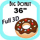"Big/Giant Donut Foam Prop 36"""