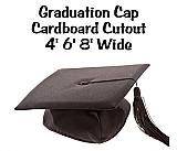Graduation Cap Cardboard Cutout Standup Prop