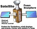 Satellite Foam Sculpture - Decor - Decoration