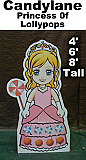 Princess of Lollypops Cardboard Cutout Standup Prop