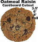 Oatmeal Raisin Cookie Cardboard Cutout Standup Prop