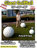 16 Inch Golfball Foam Prop - Hard Coated