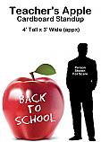 Teachers Apple Cardboard Cutout Standup Prop