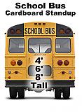 School Bus Back Cardboard Cutout Standup Prop