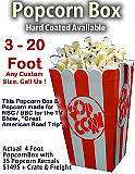 Giant/Big Popcorn Box and Kernels - Any Size