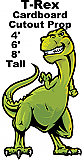 T-Rex Cartoon Cardboard Cutout Standup Prop
