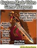 Custom Made Fanatasy-Video-Game-Swords-Weapons Foam Props