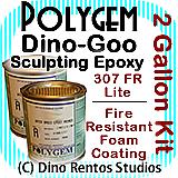 Polygem Dino-Goo 307FR Epoxy Clay Foam Coating - 2 Gallon