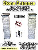 4 Foot Stone Column Entrance
