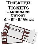 Theater Tickets Cardboard Cutout Standup Prop