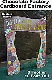 Chocolate Factory Entrance Cardboard Cutout Standup Prop