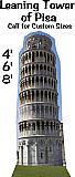 Leaning Tower of Pisa Cardboard Cutout Standup Prop